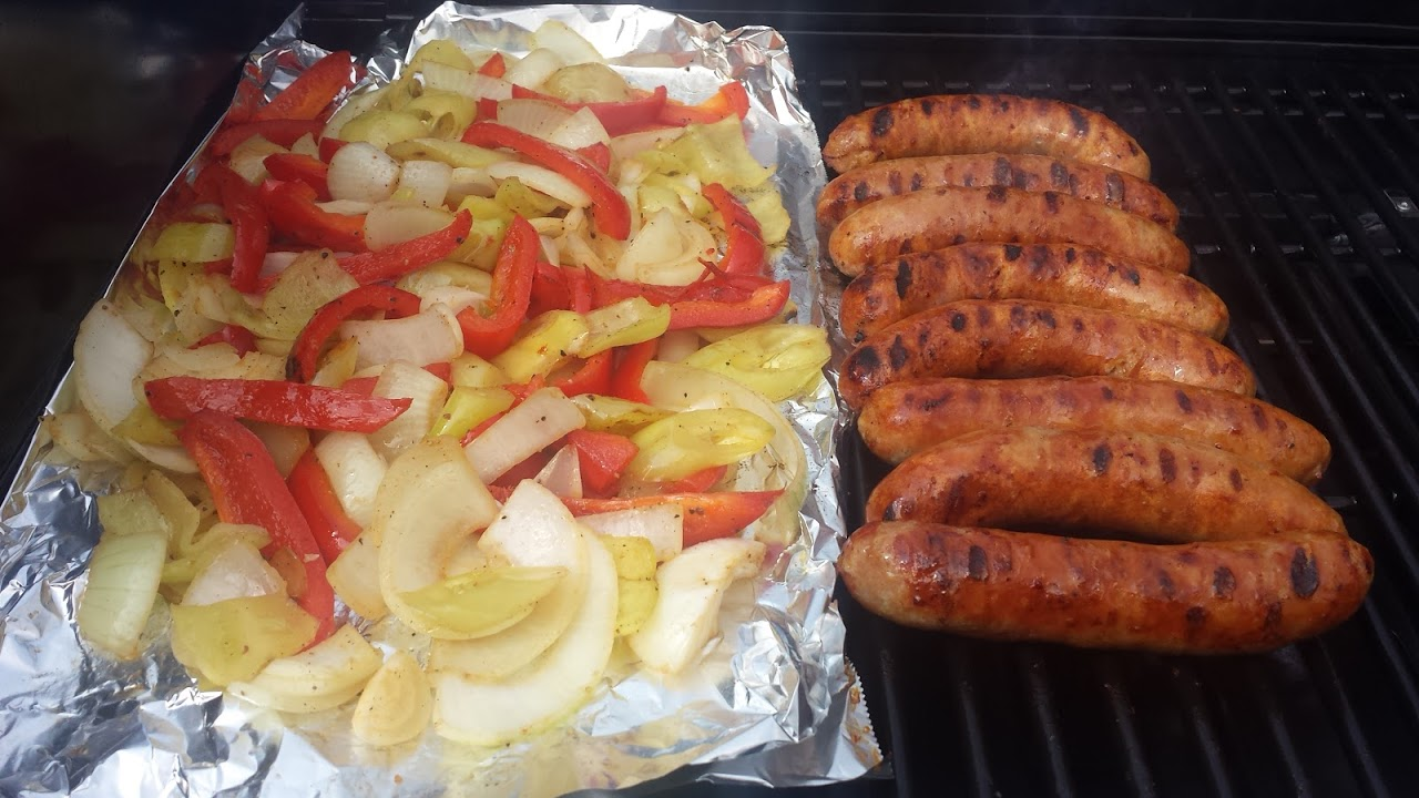 Hot Sausage With Peppers and Onions