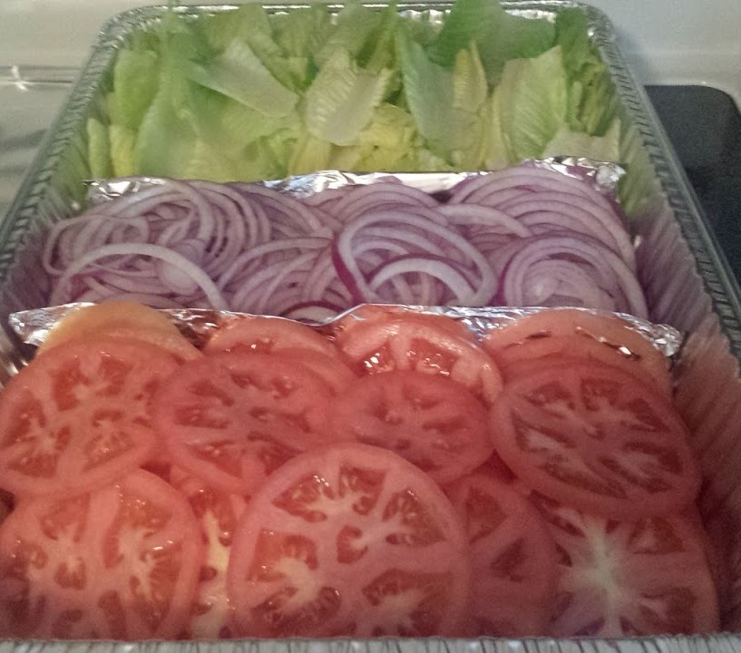LETTUCE, TOMATO, AND ONIONS FOR BUFFET