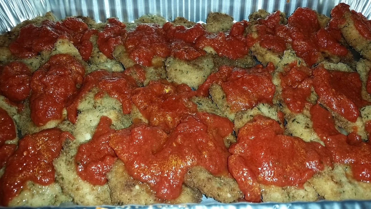 CHICKEN PARM BEFORE THE CHEESE