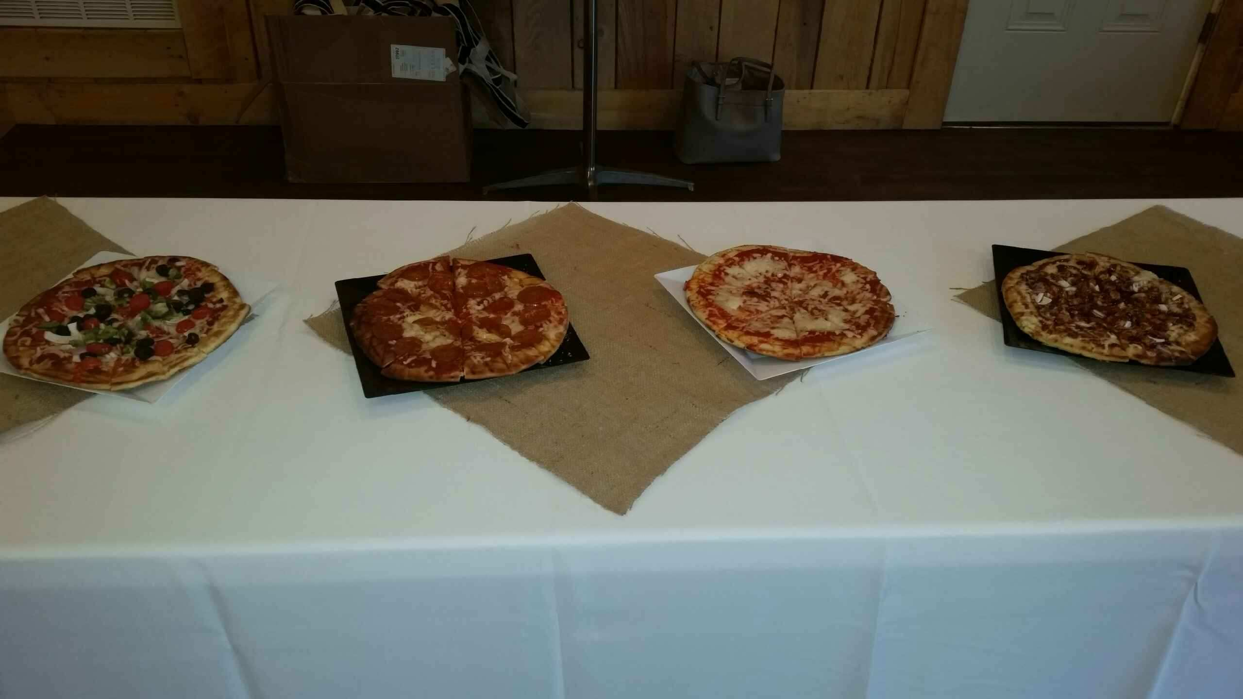 Rehearsal Dinner Pizza Setup